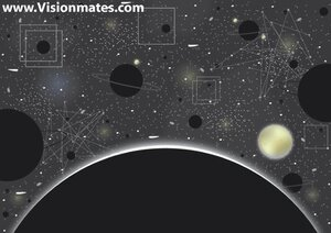 Universe Vector With Planets And Stars