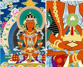 Thangka eliminate Equ Venerable