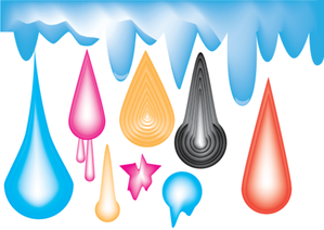 Colorful Drops Illustrator Vector Pack