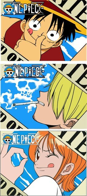 Vector enterizos de One Piece Nami Luffy Sanji
