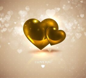 Romantic Heartshaped Background