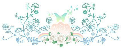 Fashion pattern vector material and the Butterfly silhouette