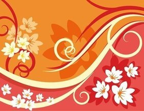 Flower Background Element For Design