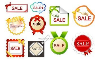 10 lovely sales discount tag