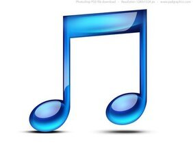 Music note icon (PSD)