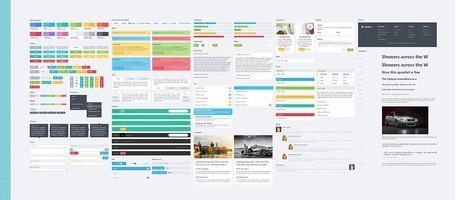 BootFlat Web interface do usuário elementos Kit CSS/PSD