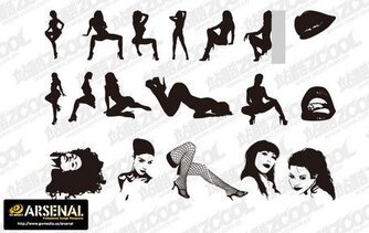 Go Media Vector material Set13-Chupin trend of sexy girl