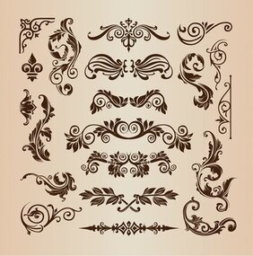 Retro-Vintage-Design Elementen Vector Set