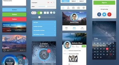 Awesome Mobile UI Kit - Submitted by Ephlux