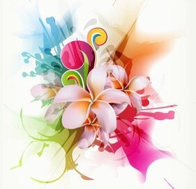 Flower Background Design Element