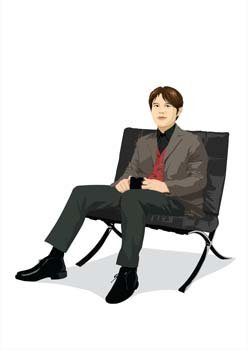 Sit man position vector 1
