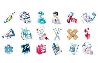 Salud y medicina Vector Icon Set