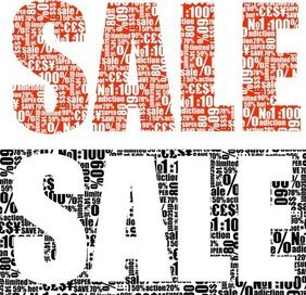 Vector Text Piled Sale