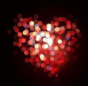 Valentine Bokeh Heart Shaped fond clair