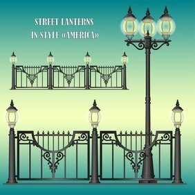 Europeanstyle Street Lamps Chandelier Lamp