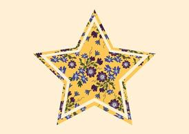 Star With Flowers