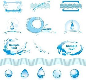 Water Theme Logo Graphics