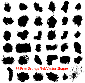 Free Grunge Ink Draw Shapes