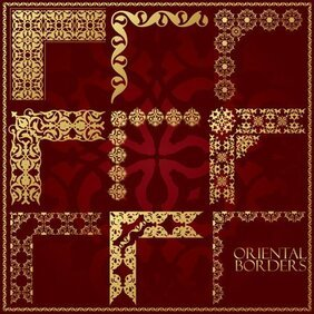 Gorgeous traditional pattern frame 01
