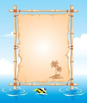 Vector Beach Theme Bulletin Board
