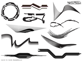 Line Art Vector Design Elements Set-6