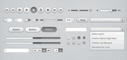 iTunes inspirado UI Kit (PSD)