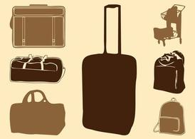 Luggage Bags Silhouettes
