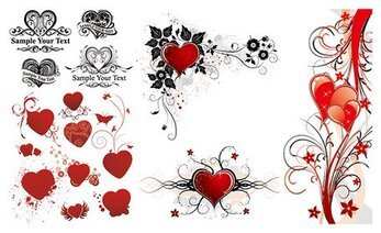 A beautiful series of heart-shaped pattern