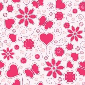 Vector Love Pattern Background