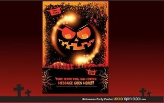 Halloween Party plakat
