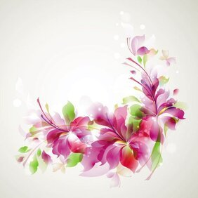 Abstract Floral Vector Background (Free)