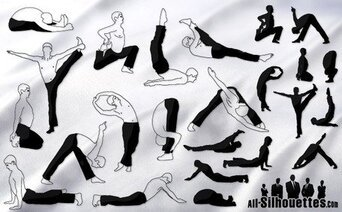 24 yoga vector man