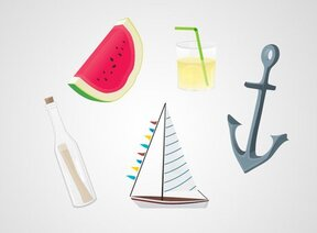 Summer Beach Vectors (Free)