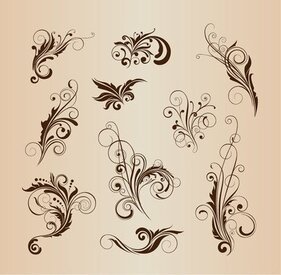 Vector-Set Muster-Design-Elemente