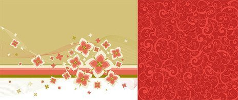 Cute flower pattern background vector and fashion material