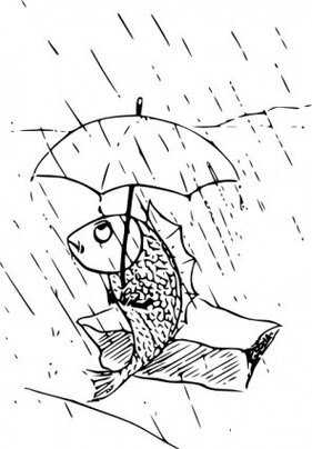 Fish With Umbrella