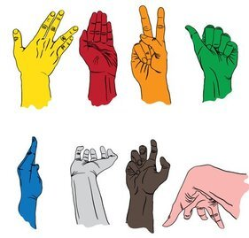 Free Vector Set: Sign Language Hands