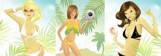 Foreign swimsuit woman
