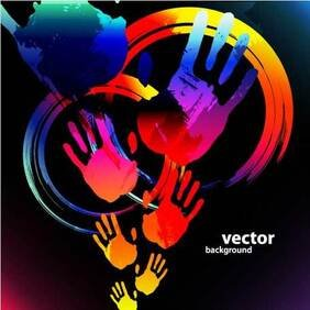 Hand_ Paints bstract Vector Backgrounds