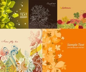 Vector background of lovely flowers and plant material