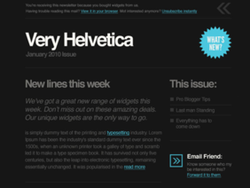 'Helvetica' Email Template PSD Mike Kus