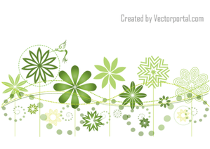 Abstract Floral Garden Vector Background Design