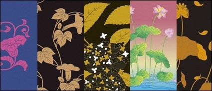 Vector traditional pictorial series 2-Flower plants