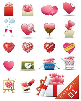 romantic heartshaped icon 2