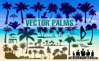 38 vecteur Palms