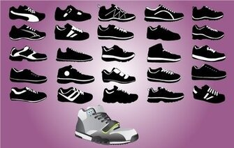 Sport schoen Pack Black & White