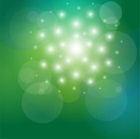 Vector Abstract Background Green and Bokeh