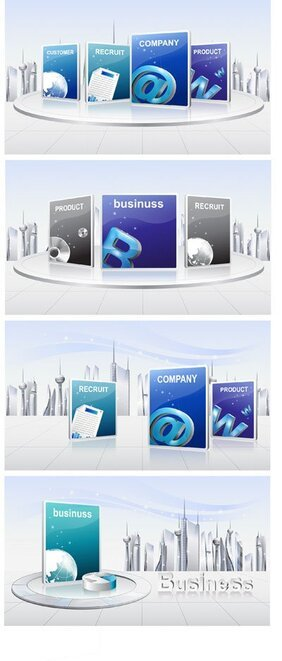 Business breath Vector material 2
