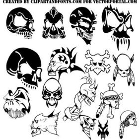 SKULLS VECTOR PACK DOWNLOAD.eps