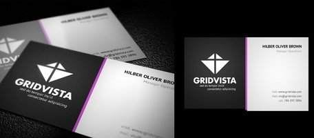 Vibrant modern business card